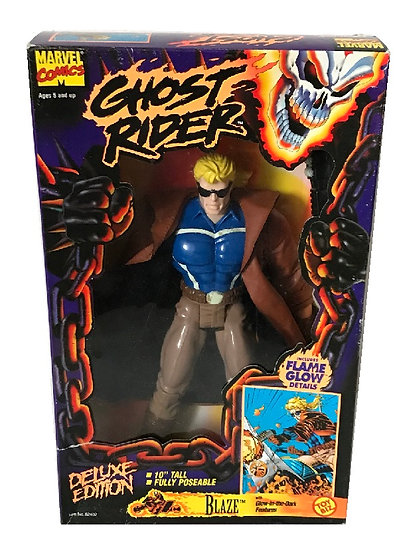 1995 Marvel Comics Ghost Rider 10 inch Blaze Deluxe Edition By Toy Biz.