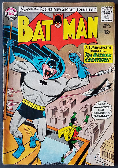 Batman (1940) #162 FN/VF [Sheldon Moldoff Cover]