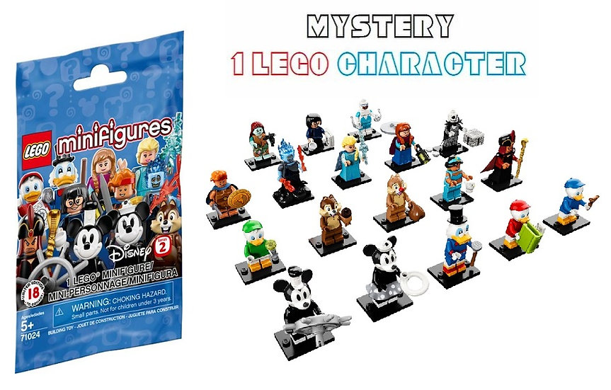 Lego 71024 The Disney Series 2 Mystery Minifigure [ 1 Mystery Minifigure ]
