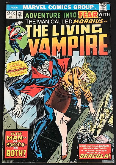 Fear (1970 Marvel) #20 Morbius The Living Vampire VF-