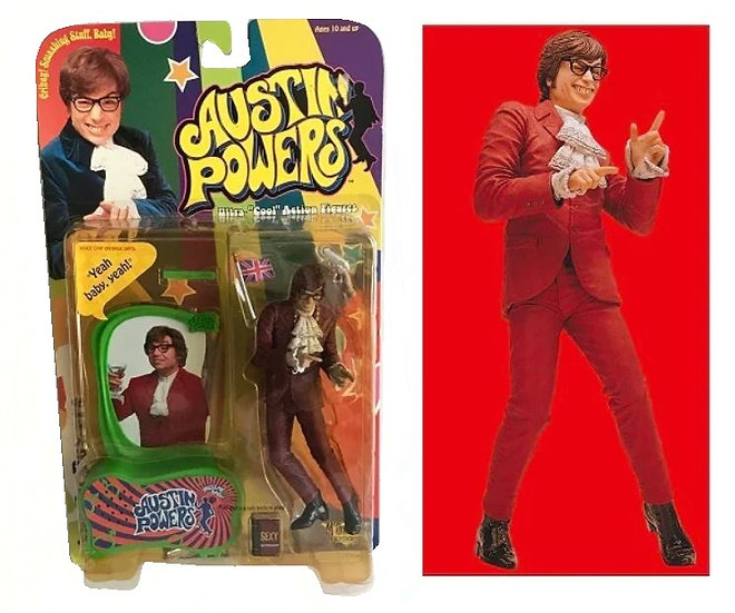 Austin Powers Ultra Cool Action Figure - 1999 McFarlane Toys