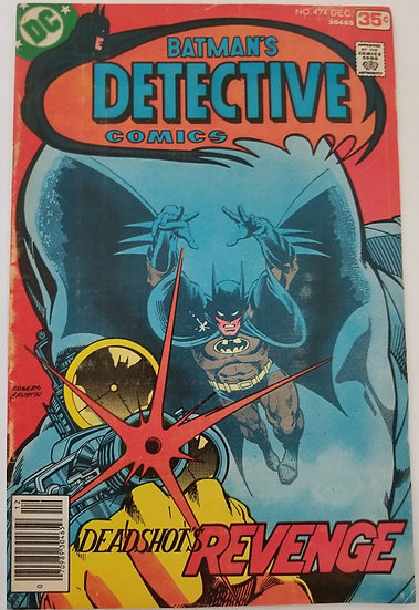 Detective Comics (1937 1st Series) #474 VG+ [1st Appearance of Modern Deadshot]