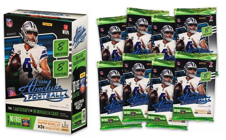 2020 NFL Absolute Football Trading Card Blaster Box