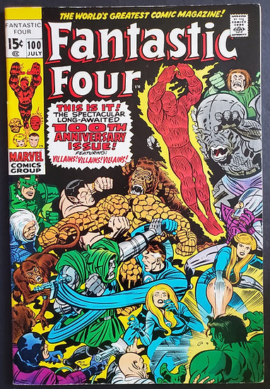 Fantastic Four (1961 1st Series) #100 VF+ [100th Issue]