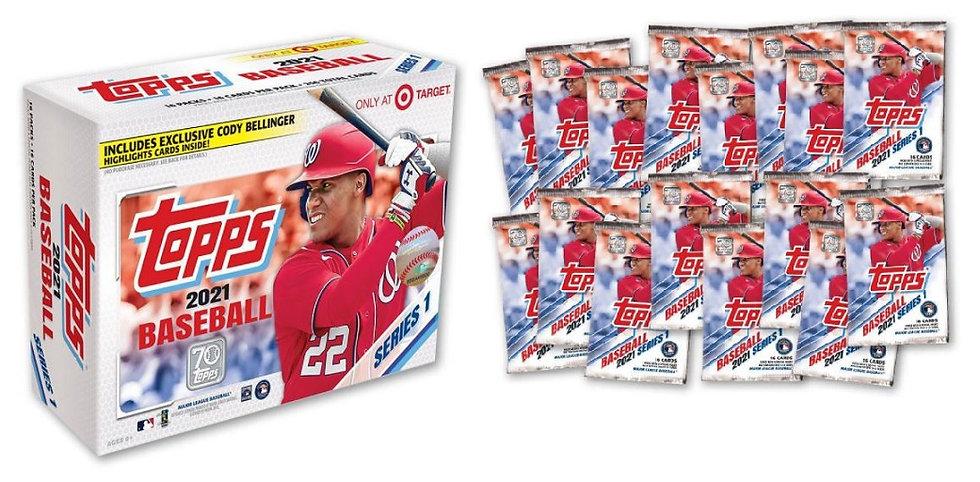 2021 MLB S1 Baseball Trading Card Mega Box [Exclusive]
