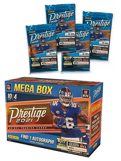 2021 Panini NFL Prestige Football Trading Card Maga Box