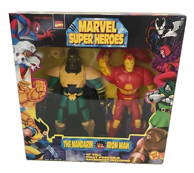 "1998 Marvel Super Heroes The Mandarin Vs Iron Man 10"" Action Figures-Toybiz"