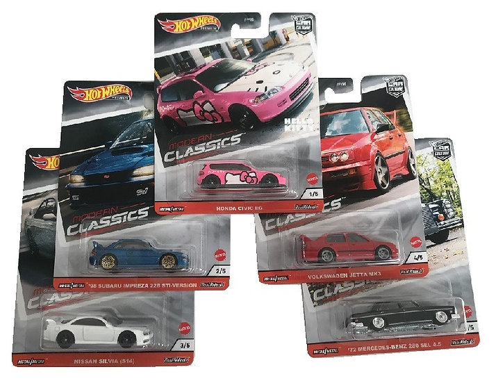 Hot Wheels Premium Modern Classics Set OF 5