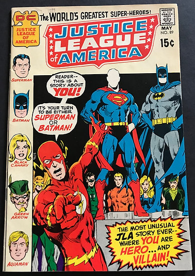 Justice League of America (1960 1st Series) #89 NM-
