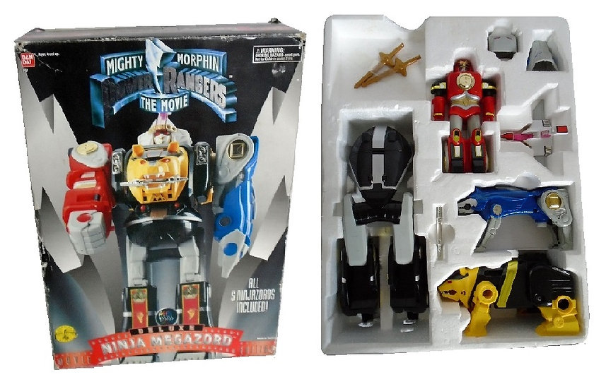 1995 Mighty Morphin Power Rangers Deluxe Ninja Megazord Movie Edition[Pre-Owned]