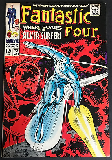 Fantastic Four (1961 1st Series) #72 VF Awesome Surfer Cover