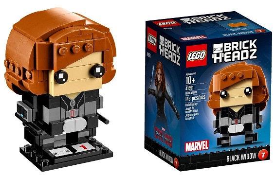 Lego Brick Headz Marvel Black Widow 41591