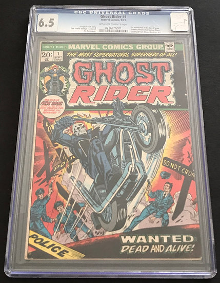 Ghost Rider 1 CGC 6.5 Off White To White Pages