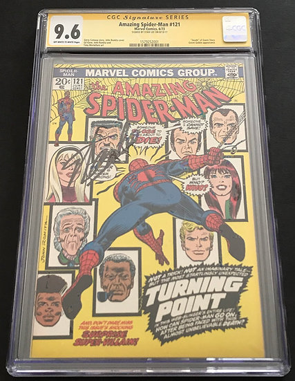Amazing Spider-Man #121 CGC SS Stan Lee 9.6 Off White To White Pages
