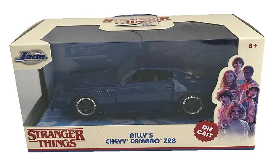 Stranger Things Billy's Chevy Camaro Z28 Die Cast Vehicle By Jada Toys