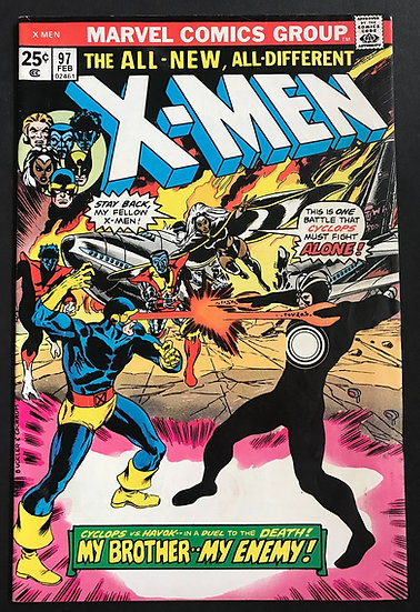 X-Men (Marvel) #97  [1st appearance Lilandra. Cyclops vs. Havok.]