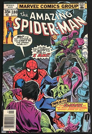 Amazing Spider-Man (Marvel) #180 VF [Green Goblin App]