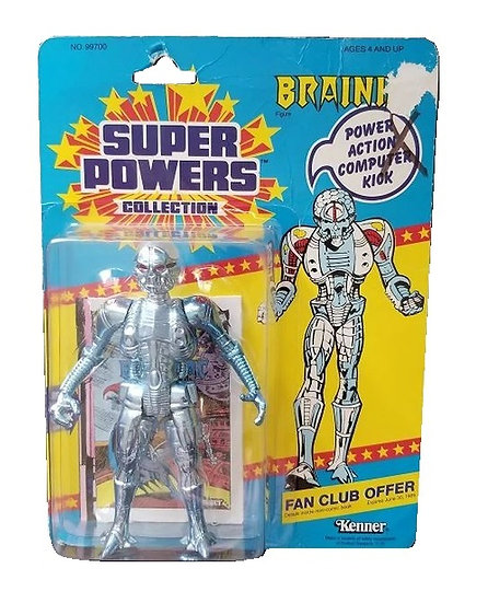 1984 Kenner Super Powers Brianiac is mint on the card