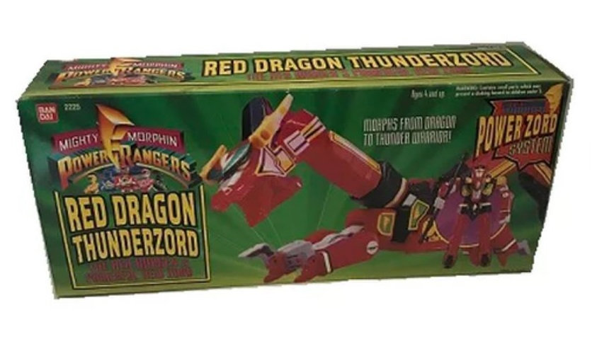 Vintage Mighty Morphin Power Rangers Red Dragon Thunderzord