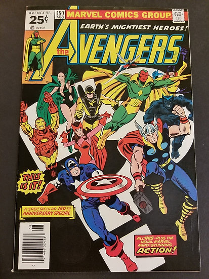 Avengers (1963 1st Series) #150 VF- [150th anniversary special.]