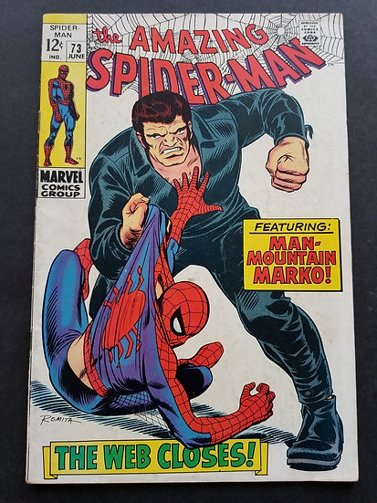Amazing Spider-Man 73 VG/FN. 1st Appearance of Silvermane.