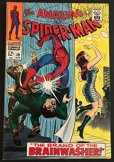 Amazing Spider-Man (1963 1st Series) #59 VF [1st Mary Jane Cover]