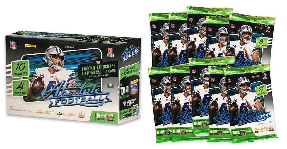 2020 NFL Absolute Football Trading Card Mega Box