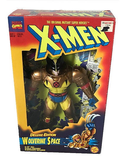 1995 Marvel Comics X-Men 10 inch Wolverine Space Deluxe Edition By Toy Biz.