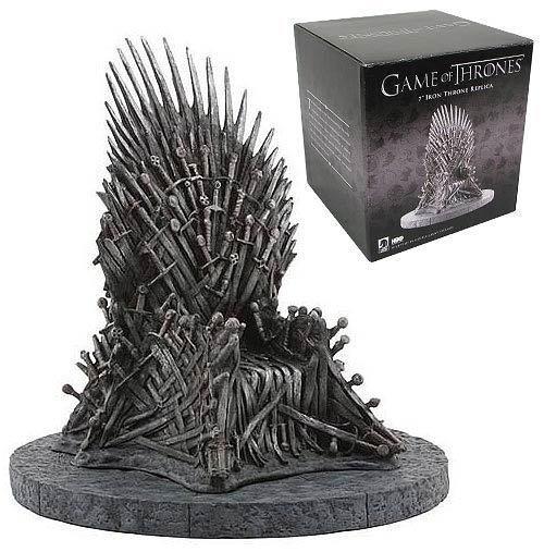 Game of Torse HBO Figurinehrones   7 Inch  Iron Throne Replica Statue Dark H