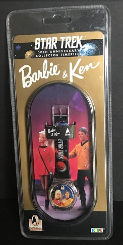 1996 Star Trek 30th Anniversary Collector Timepiece Barbie And Ken Wrist Watch