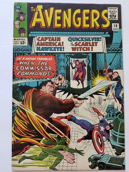 Avengers (Marvel ) #18 FN+ [Early Scarlet Witch & Quicksilver]