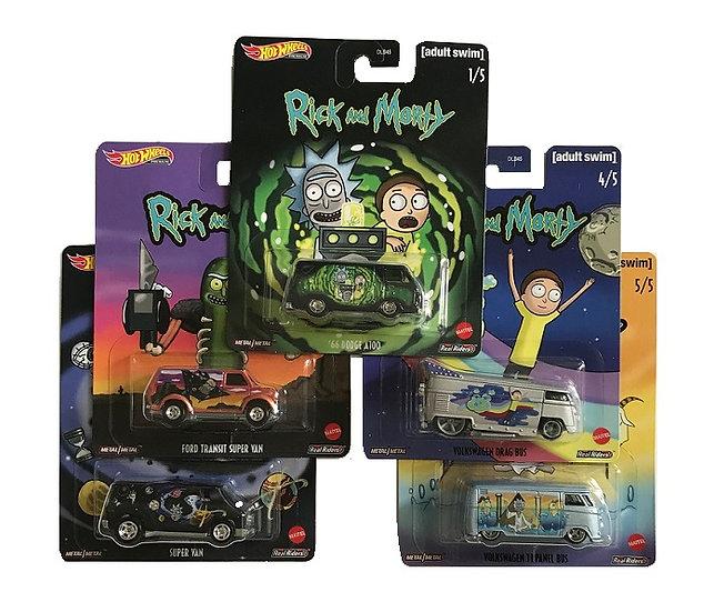 Hot Wheels 1:64 Premium Pop Culture 2020 Rick & Morty Series Set OF 5
