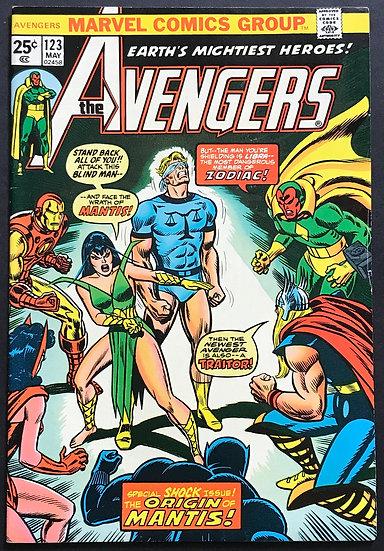 Avengers (Marvel ) #123 VF [Origin of Mantis.]