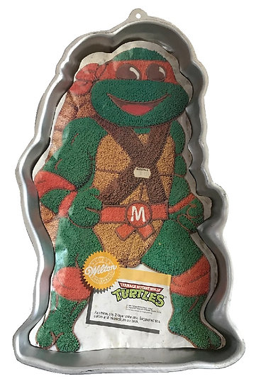 1989 Vintage Wilton Teenage Mutant Ninja Turtles Cake Party Pan