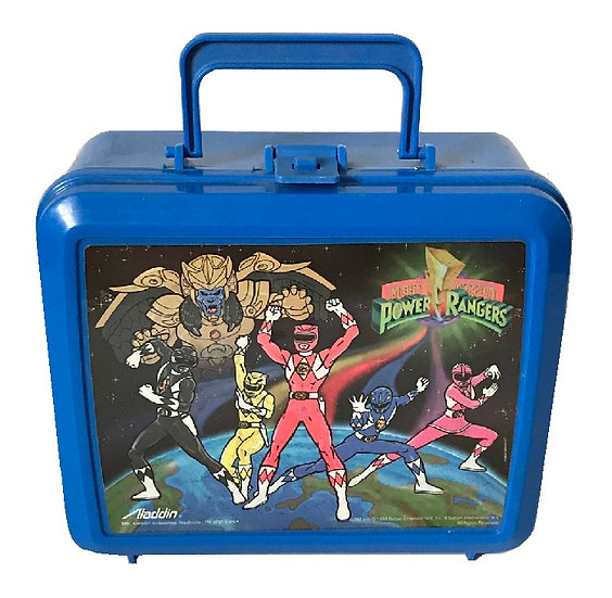 1993 Mighty Morphin Power Rangers Lunch Box No Thermos By Aladdin [Used]