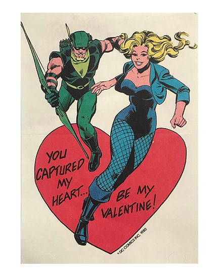 1980 DC Comics Be My Valentine Card