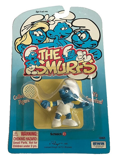 1995 Vintage The Smurfs Tennis Smurf Figure