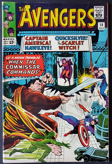 Avengers (1963 1st Series) #18 VF [Early Scarlet Witch & Quicksilver]