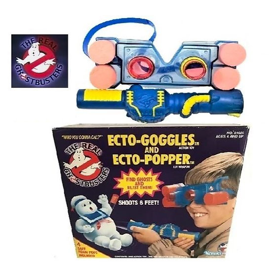 Real Ghostbusters Ecto Goggles Action Toy And Ecto Popper Toy Weapon-1986 Kenner
