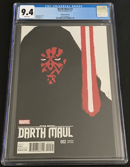 Star Wars Darth Maul (2017 Marvel) #2 CGC 9.4 WHite Pages [Aja Variant Cover]
