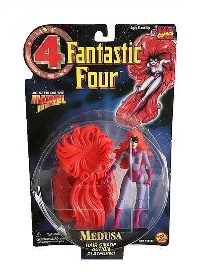 1996 Fantastic Four Medusa Hair Snare Action Platform Figure-Toy Biz