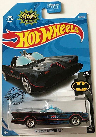 2017 Hot Wheels Batman Classic TV Series Batmobile 3/5