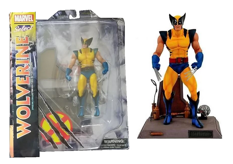 Marvel Select Wolverine is new and sealed in the box.