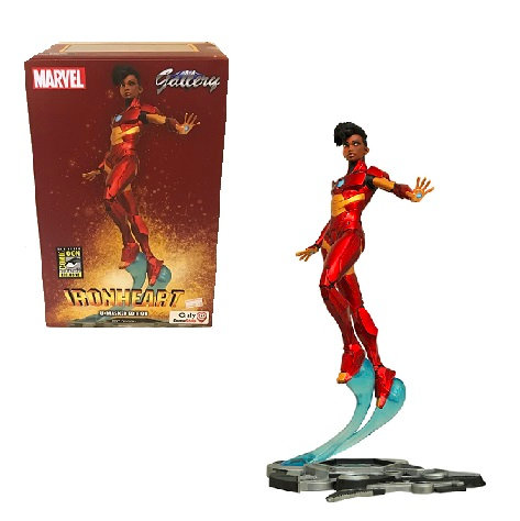 Gallery Marvel Ironheart Unmasked Edition PVC Diorama Game Stop SDCC Exclusive