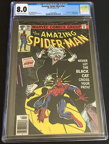 Amazing Spider-Man (1963 1st Series) #194 CGC 8.0 Off-White To White Pages