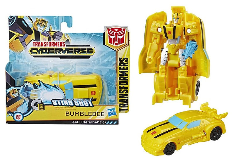 Transformers Cyberverse Action Attackers 1-Step Changer Sting Shot Bumblebee