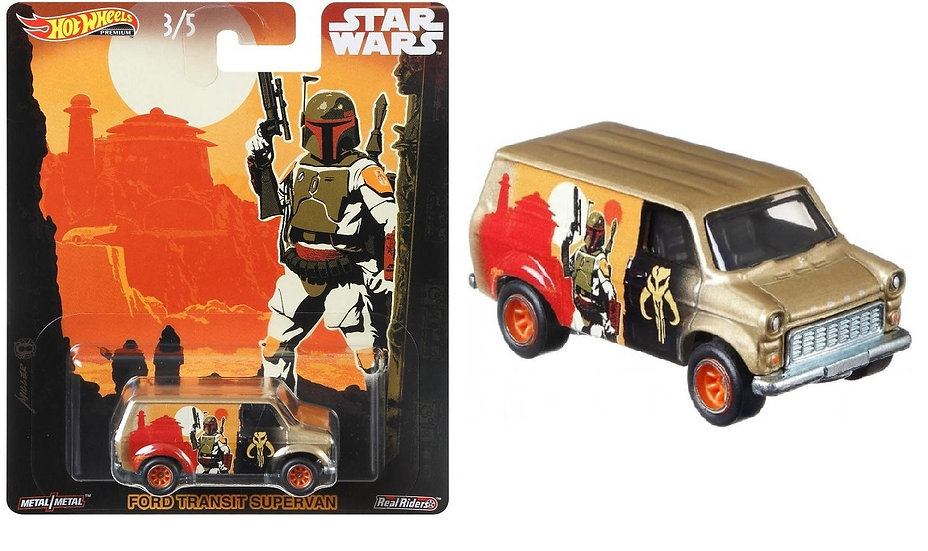 Hot Wheels Premum Real Riders Star Wars Ford Transit Supervan
