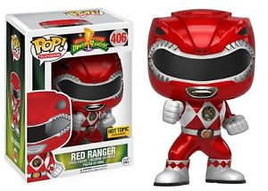Funko Pop Mighty Morphine Power Rangers Metalic Red Ranger 406 Hot Topic Exclus