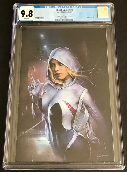 Ghost-Spider 1 Comic Mint Virgin Edition CGC 9.8 White Pages