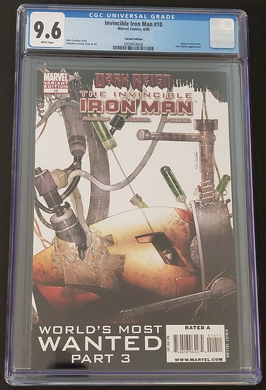 Invincible Iron Man (2008) #10B Variant CGC 9.6 White Pages.  1st Rescue Bot.